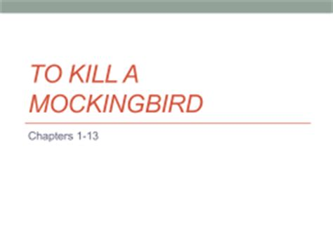 To kill a mockingbird ending essay